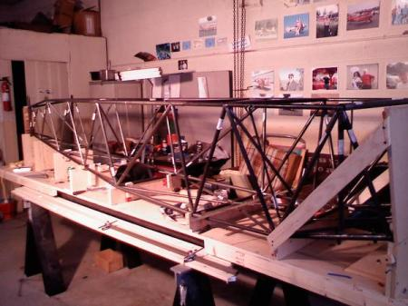 Fuselage Tacked Up and Ready to Weld